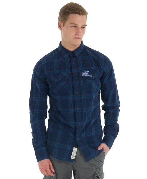 chemise superdry bleue