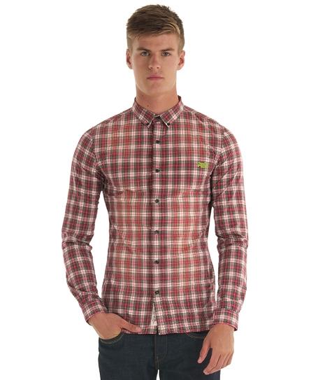 chemise superdry carreaux